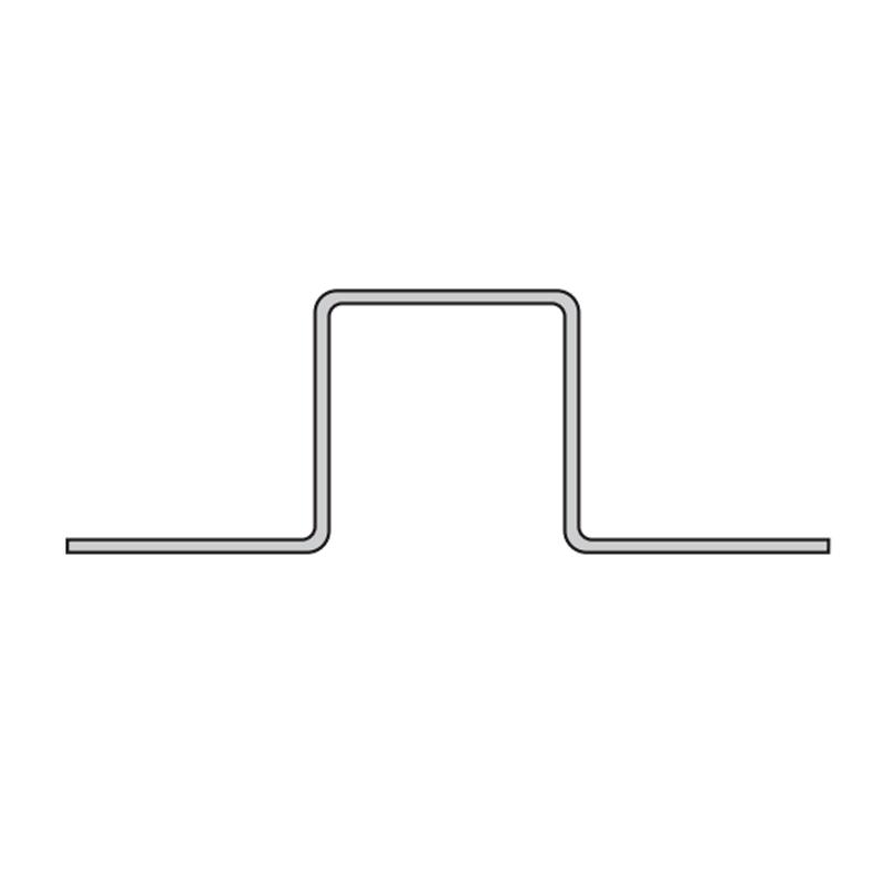 profil doublex type t 87 x 30 mm acier galva pose ossature m tallique 3 m tres clins. Black Bedroom Furniture Sets. Home Design Ideas