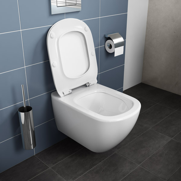 Ensemble cuvette wc suspendue t si technologie aquablade for Salle de bain artisan