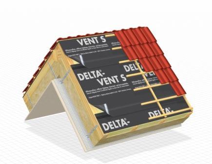 ecran de sous toiture hpv delta vent s plus 1 5 x 50 m. Black Bedroom Furniture Sets. Home Design Ideas