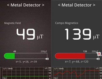 Appli mobile detecteur de métaux