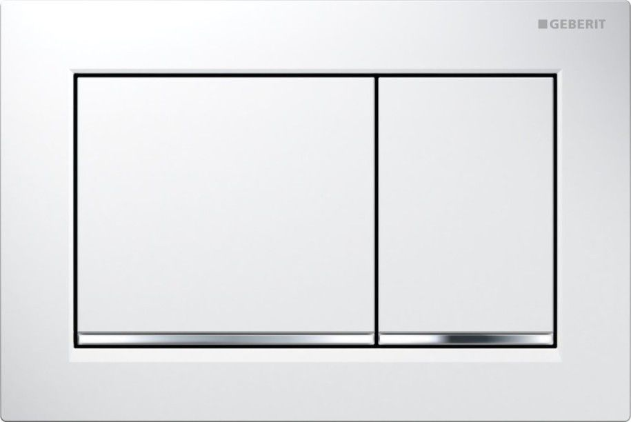 geberit plaque de commande omega 30 blanc chrome brillant distriartisan. Black Bedroom Furniture Sets. Home Design Ideas