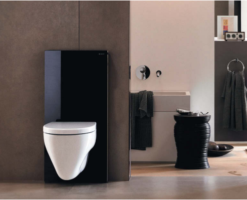 geberit panneau monolith pour wc suspendu noir distriartisan. Black Bedroom Furniture Sets. Home Design Ideas