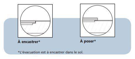 Pose receveur asymetrique Ultra Flat Connect