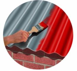 Peinture pour rev tement de toiture plaque de couverture ondul e bitum e on - Tole ondulee bitumee noir rouge vert ...