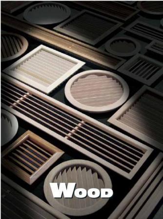 Grille ronde bois sapin rouge encastrer grille de ventilation bois grilles de ventilation - Grille vide sanitaire ...