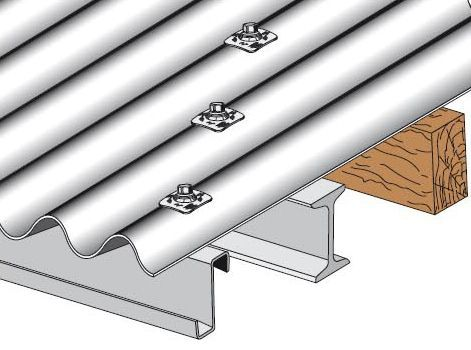 tirefond complet 8x120 mm pour plaques fibres ciment sur bois x25 plaque ondul e fibres. Black Bedroom Furniture Sets. Home Design Ideas