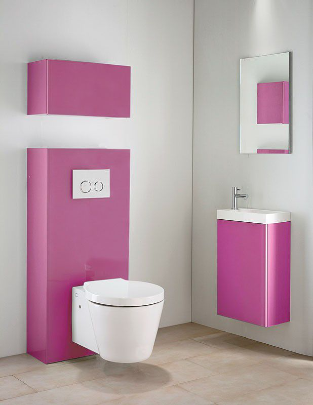 meuble lave main duofix fushia miroir geberit lave. Black Bedroom Furniture Sets. Home Design Ideas