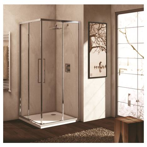 ideal standard porte de douche kubo acc s angle pour receveur carr ou rectangulaire. Black Bedroom Furniture Sets. Home Design Ideas